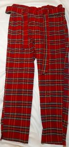 Red plaid pants